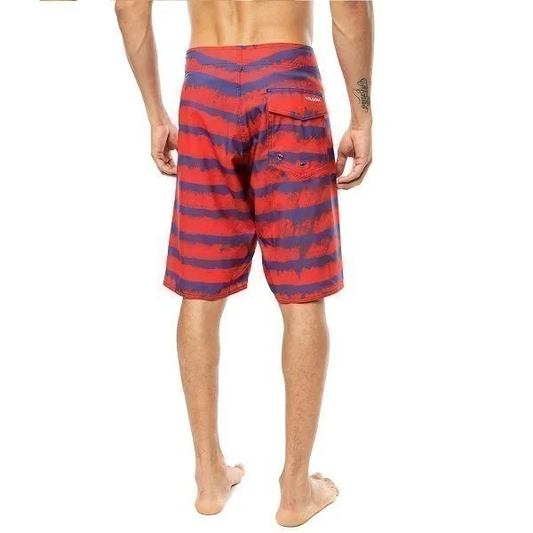 Bermuda água Volcom listrada masculina Surf Wear