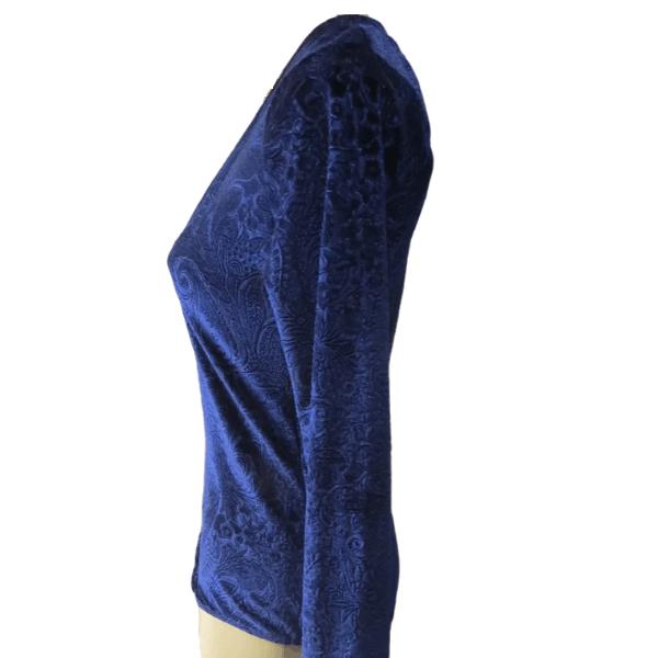 Body Collant Da Líquido Tecido Aveludado Com Estampa