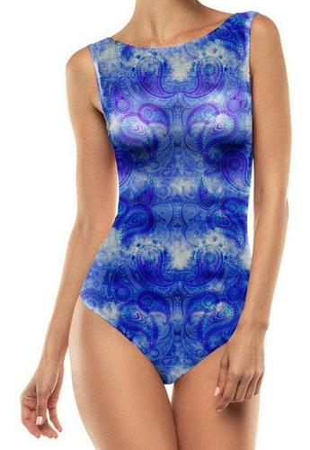 Body Regata Lupo Loba Trend Estampa Azul 47006 Fit Casual