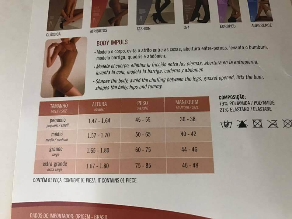 Body Trifil 2ª Pele Modela Cintura Abdomem Levanta Bumbum