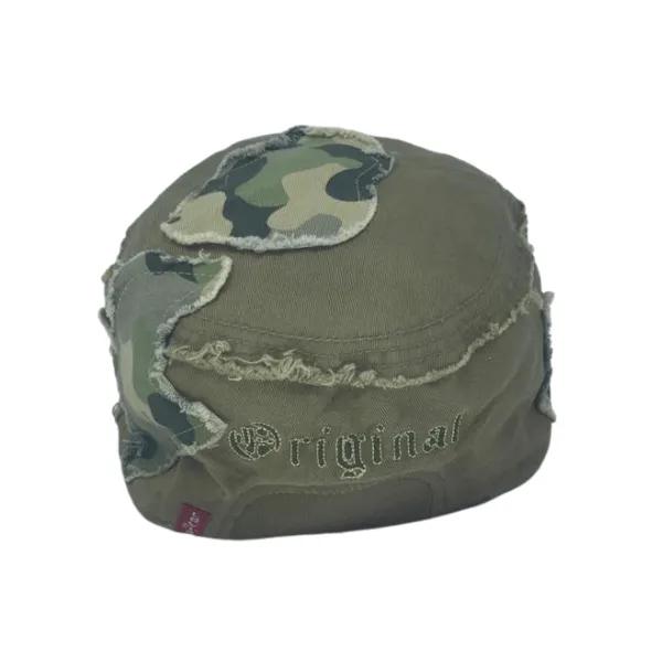 Boné Camuflado Levis Fechado De Sarja Estilo Cap Militar