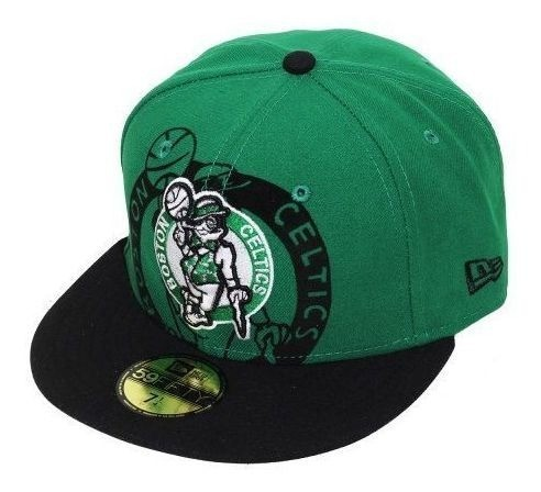 Boné New Era Boston Celtics Basket NBA Fechado De Aba Reta