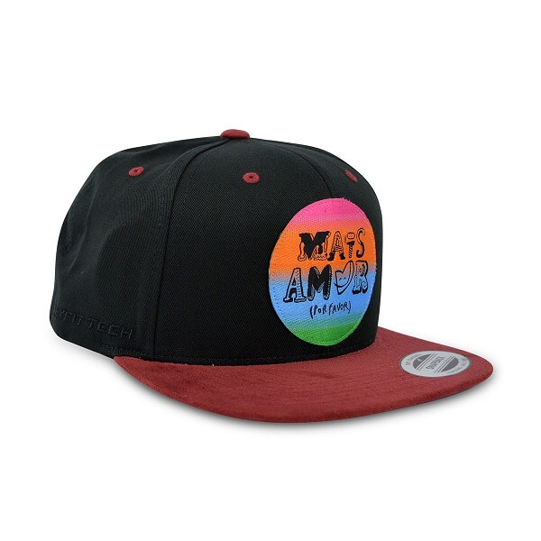 Boné True Heart Sp Mais Amor Por Favor Aba Reta Snapback