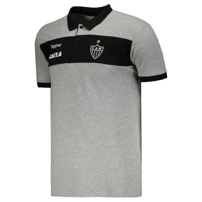 Camisa Atlético Mineiro Topper Polo De Viagem Galo 2017