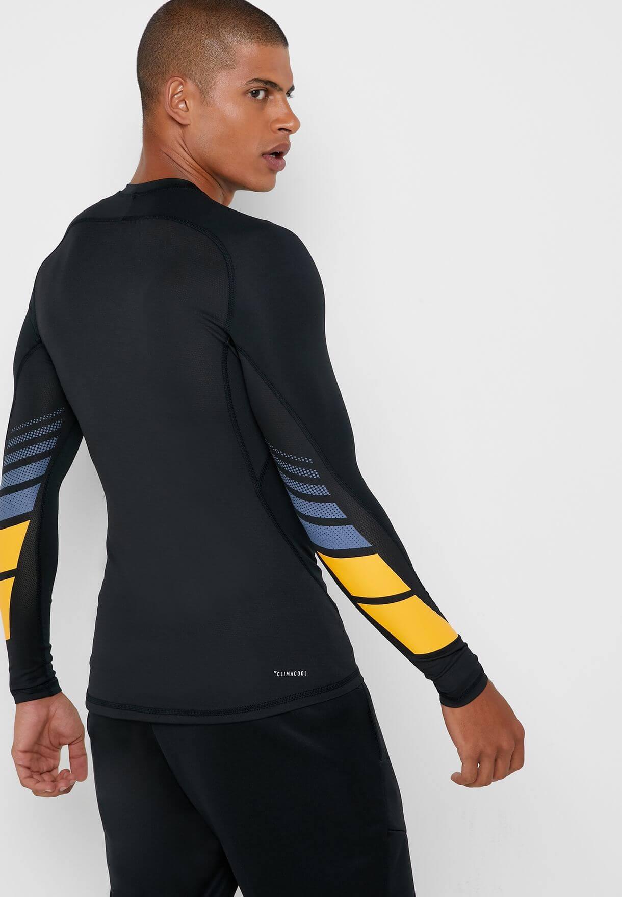 Camisa Compressão adidas De Manga Longa Corrida De Rua dz7378