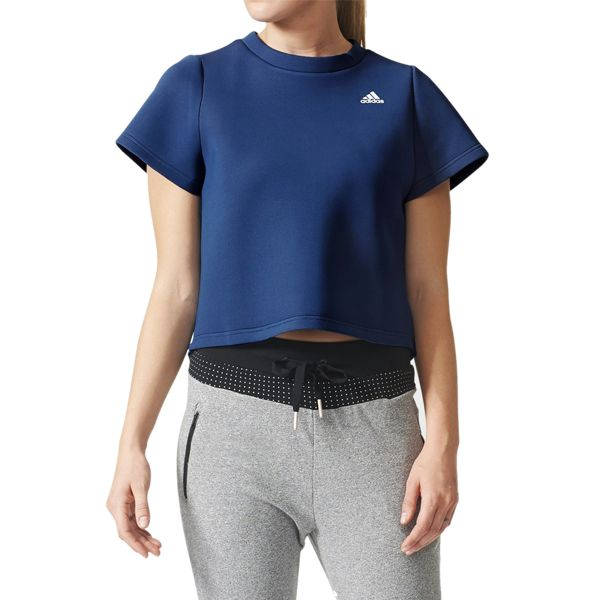 Camiseta Cropped adidas Blusinha Running Fitness Casual