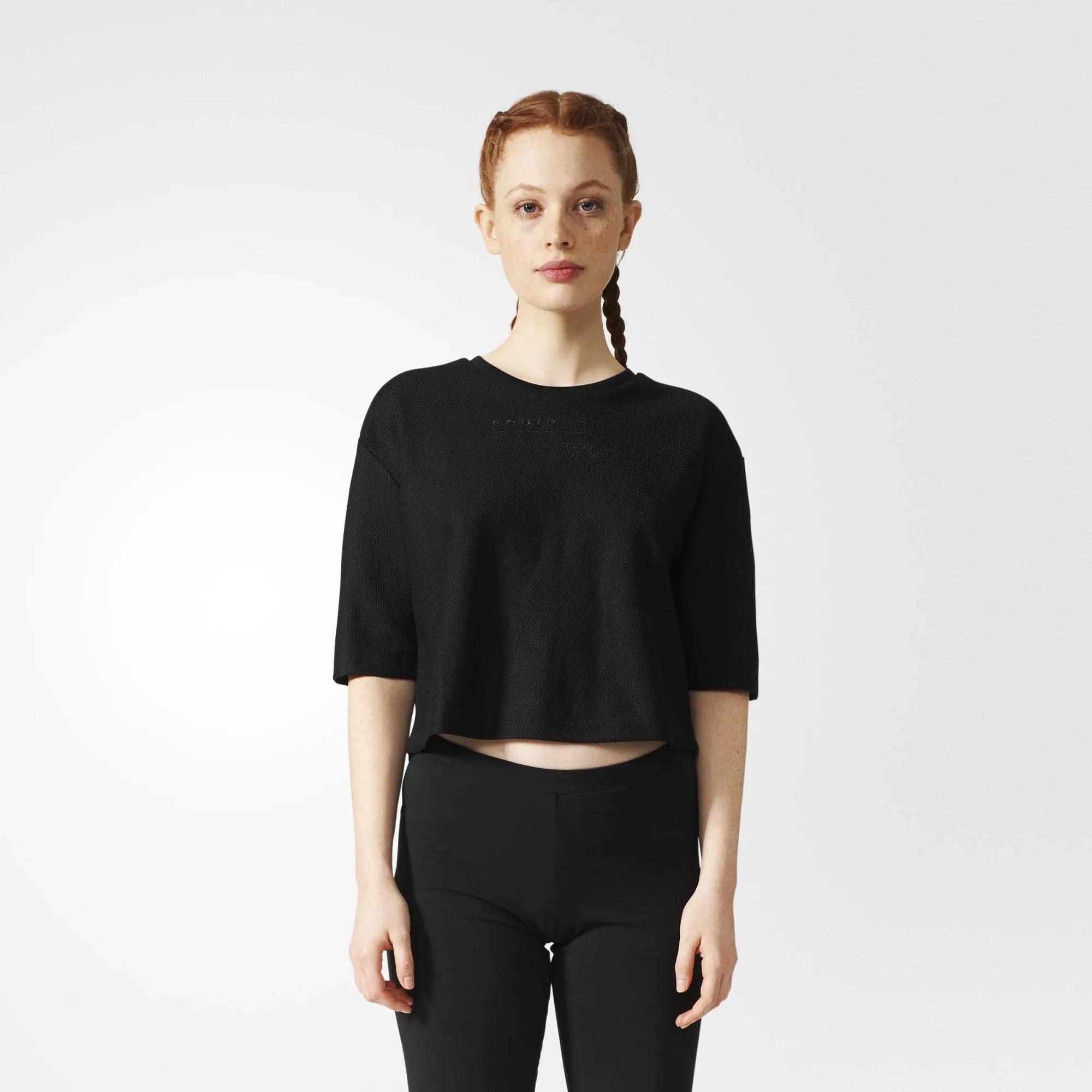 Camiseta Cropped adidas Originals Eqt Moda Streetwear