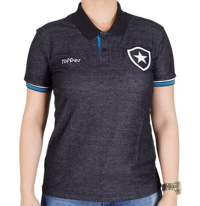 Camiseta Feminina Botafogo Topper Polo Viagem Comissão 2017