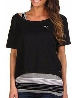 Camiseta Feminina Puma Cropped Core Pró Tamanho Extra Grande