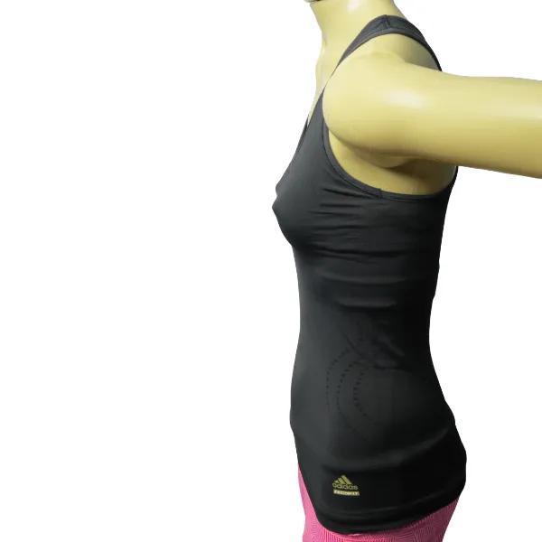 Camiseta feminina regata de compressão Adidas Techfit com top embutido