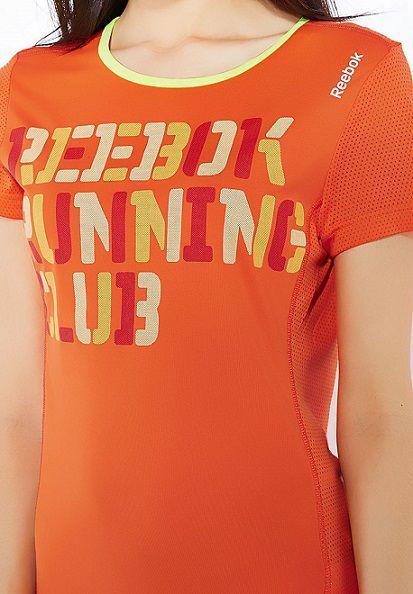 Camiseta Reebok Linha Running Club Corrida De Rua