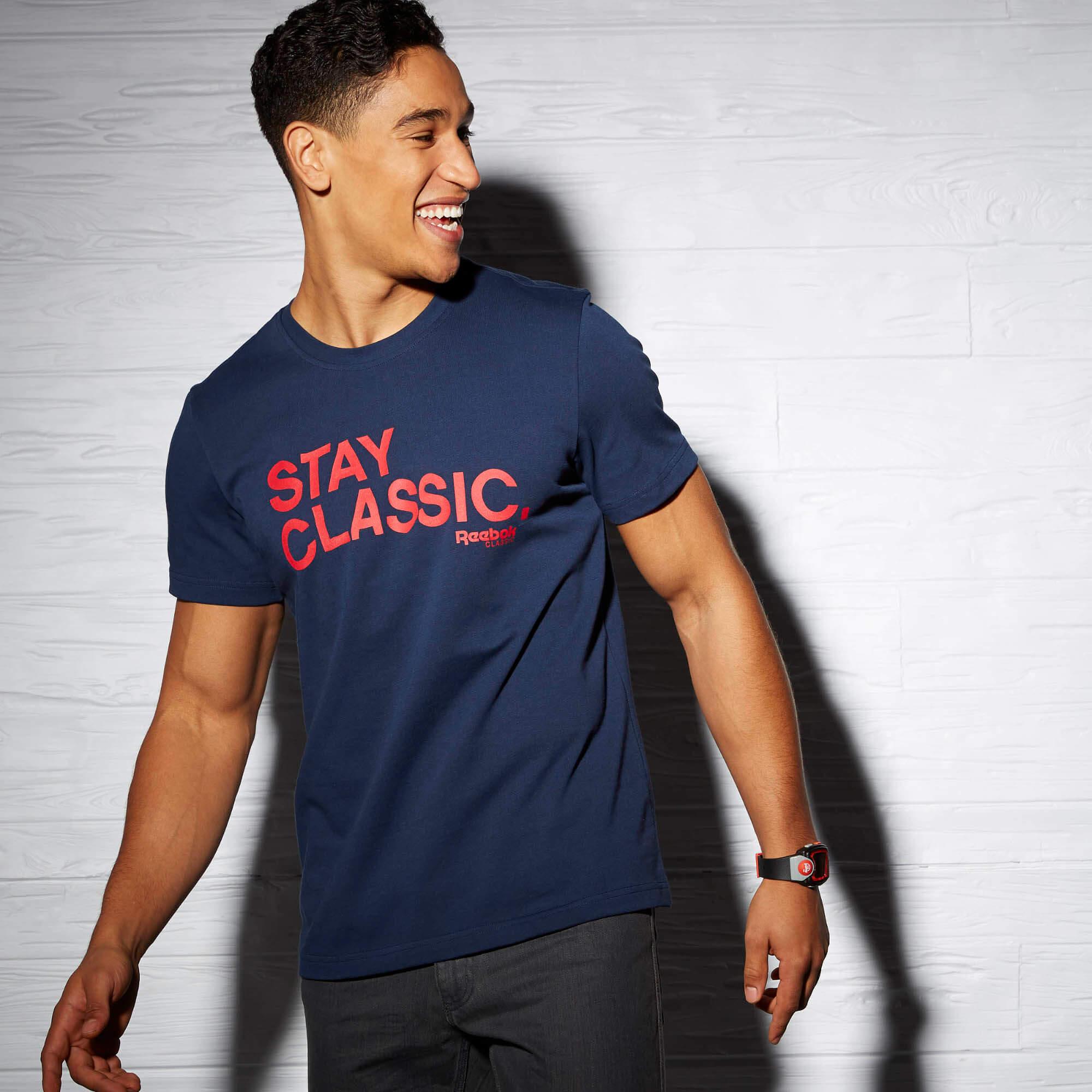 Camiseta Reebok Stay Classic Estilo Retrô Urban Wear Br8600