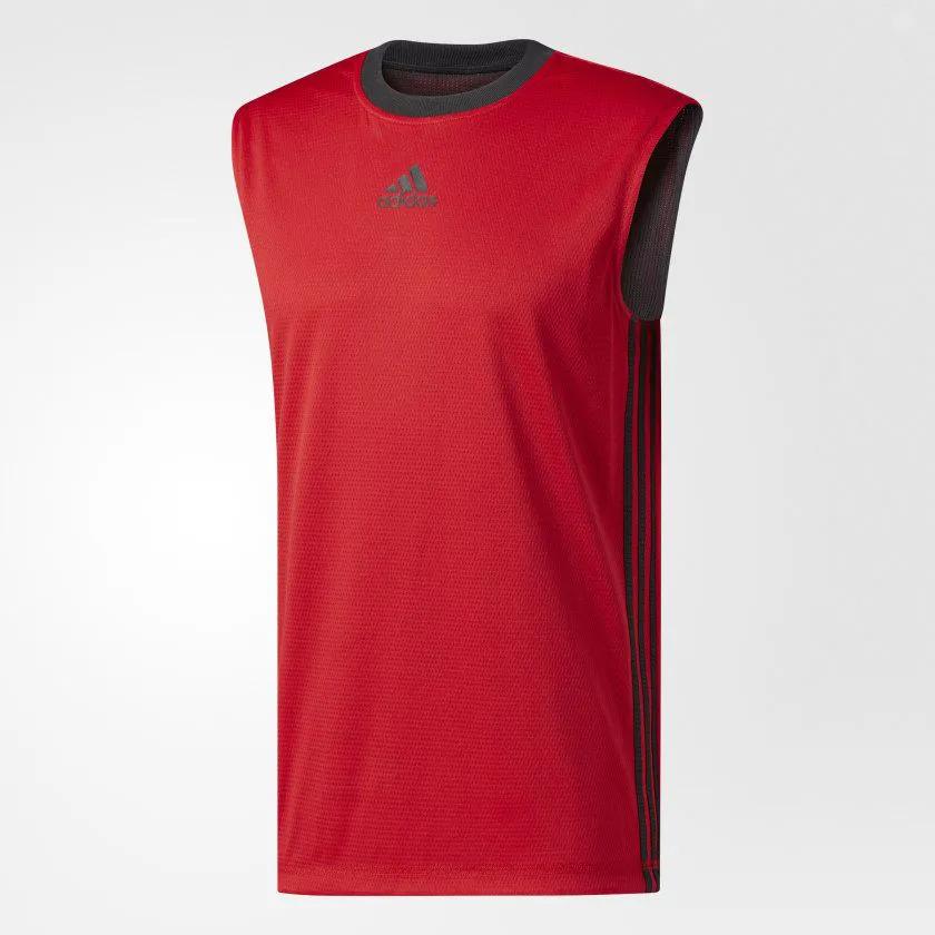 Camiseta Regata adidas Basket Reversível 2 Em 1 Dupla Face