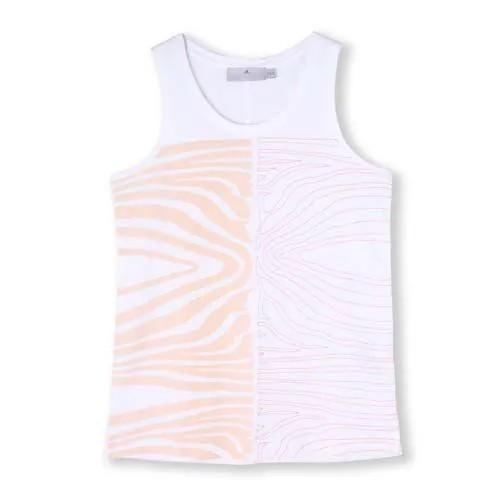 Camiseta Regata adidas Stella Mccartney Estampa Zebrada