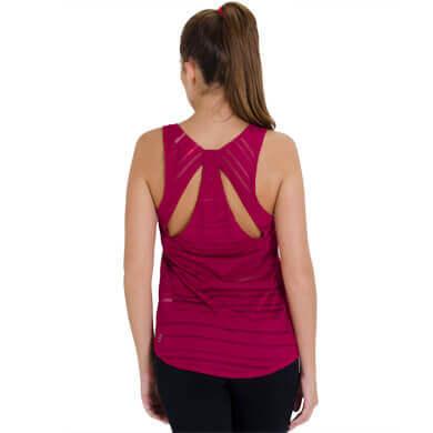 Camiseta Regata Puma Studio Loose Listrada Semi Transparente