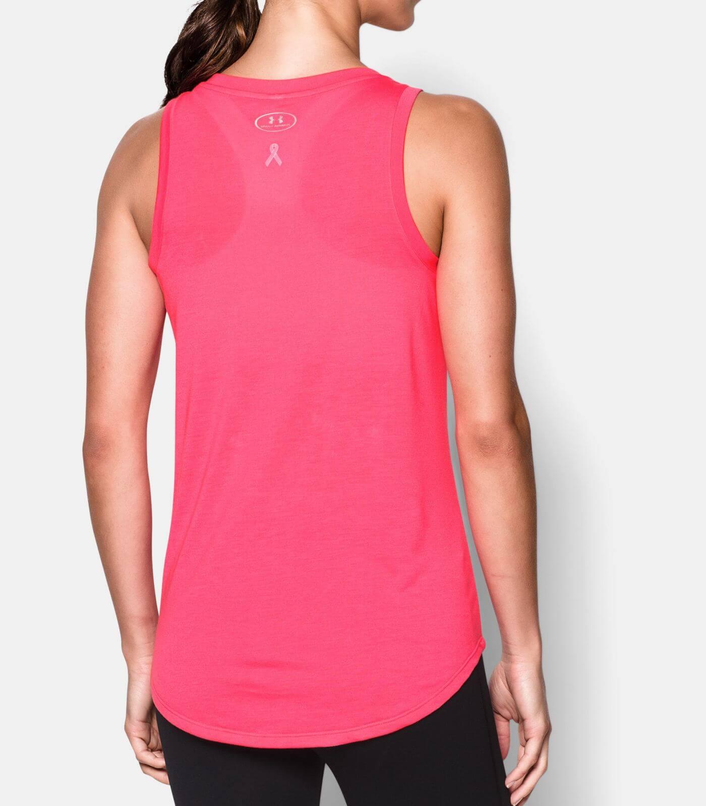 Camiseta Regata Under Armour Power In Pink Outubro Rosa