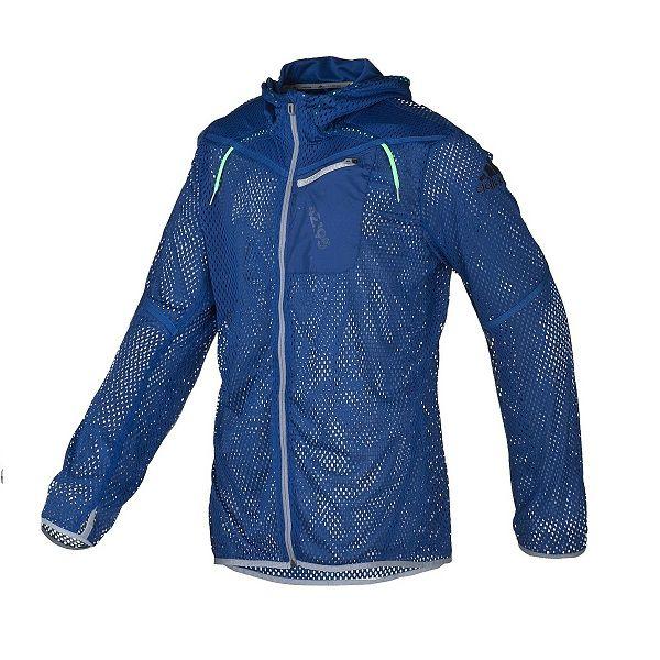 Jaqueta adidas Maraton Corta Vento Em Tela Com Capuz Z20487