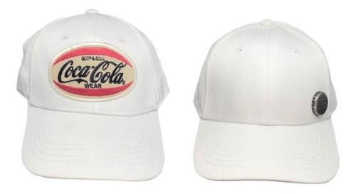 Kit 2 Bonés Branco Coca Cola Acessories Luxe Aba Curva Snapback