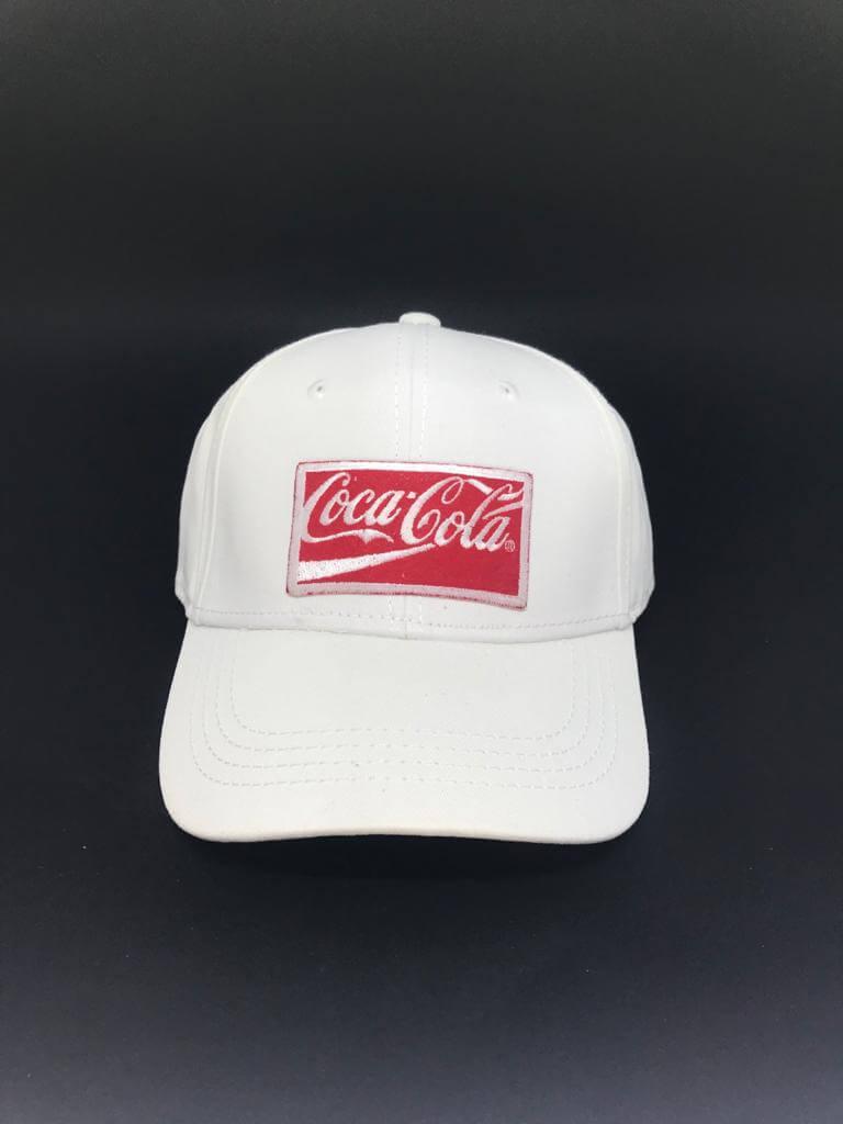 Kit 5 Bonés Branco Coca Cola Acessories Aba Curva Snapback