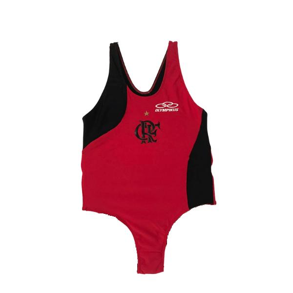 Maiô Com Forro Natação Flamengo Olympikus Body Rubro Negro