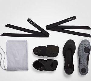 Sapatilha preta Nike 2 em 1 para pilates yoga dança de salão