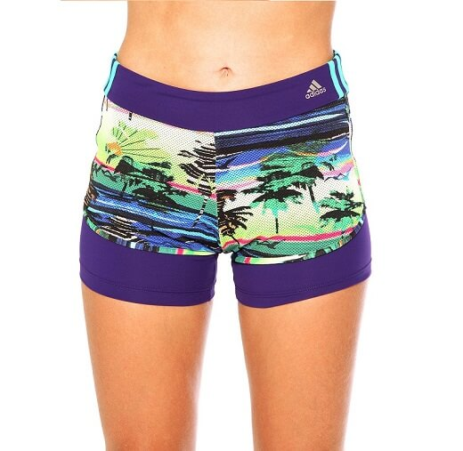 Shorts Estampado adidas Salinas 2 In 1 Com Bermuda Interna