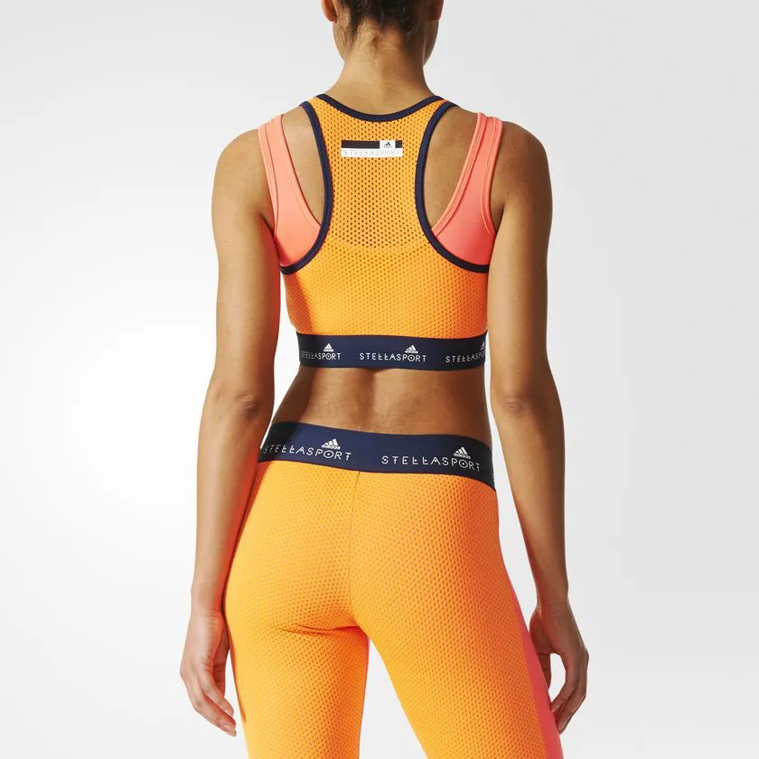 Top Cropped adidas Stellasport Moda Fitness Stella Mccartney