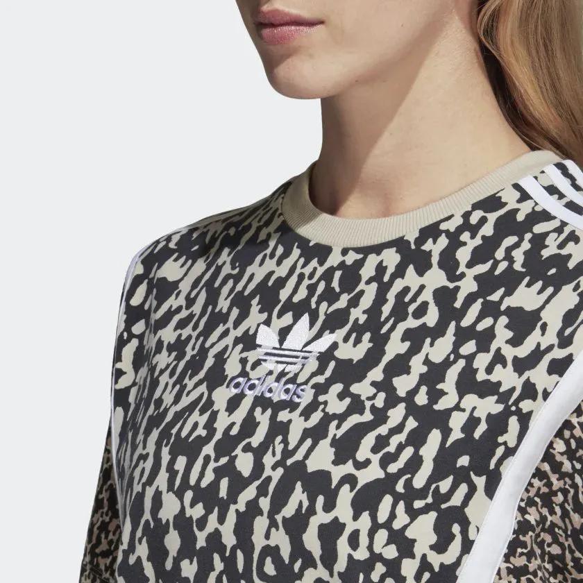 Vestido adidas Originals Estampa Oncinha Moda Street Wear