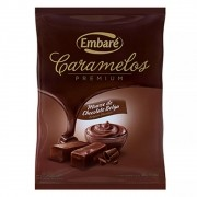 Bala De Caramelo Premium Sabor Mousse De Chocolate Belga 600g - Embaré