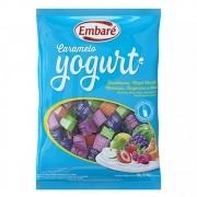 Bala De Caramelo Iogurte Frutas Azul 660g - Embaré