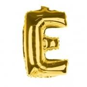 Balão Metalizado Dourado Letra E - 40cm