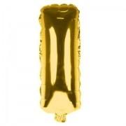 Balão Metalizado Dourado Letra I - 40cm