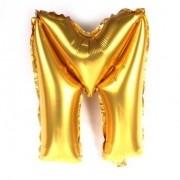 Balão Metalizado Dourado Letra M - 40cm