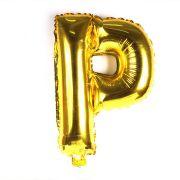 Balão Metalizado Dourado Letra P 1 metro
