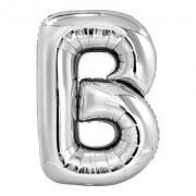 Balão Metalizado Prata Letra B - 40cm