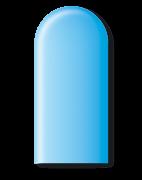 Balão São Roque Canudo 260 C/50un Azul Baby