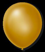 Balão São Roque Cintilante N°7 C/50un Dourado