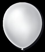 Balão São Roque Cintilante N°9 C/50un Branco