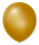 Balão São Roque Cintilante N°9 C/50un Dourado