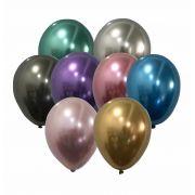 Balão São Roque Metalizado N°9 C/25un Sortido