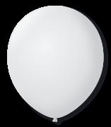 Balão São Roque Redondo N°11 C/50un Branco Polar
