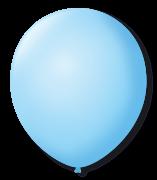 Balão São Roque N°5 Redondo C/50un Azul Baby