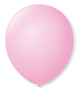 Balão São Roque N°5 Redondo C/50un Rosa Baby