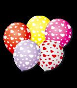 Balão São Roque N°9 C/25un Decorado Coração Sortido