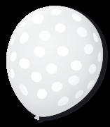Balão São Roque Póa N°9 C/25un Cristal Com Bolinha Branca