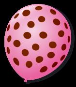 Balão São Roque Póa N°9 C/25un Rosa Tutti - Frutti Com Bolinha Café Brasil