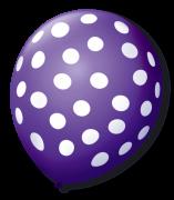 Balão São Roque Póa N°9 C/25un Roxo Uva Com Bolinha Branca