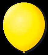 Balão São Roque Redondo N°8 C/50un Amarelo Citrico