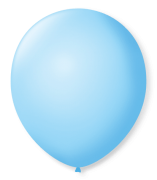Balão São Roque Redondo N°8 C/50un Azul Baby