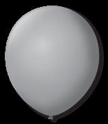 Balão São Roque Redondo N°8 C/50un Cinza